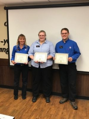 Lynda Shimko, Carrie Berro, and Josh Brooks were honored with a Mega! Co-op Team Member Spotlight